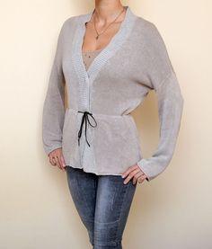 Brunello Cucinelli Linen Knitted Cardigan Sweater #BrunelloCucinelli #Cardigan