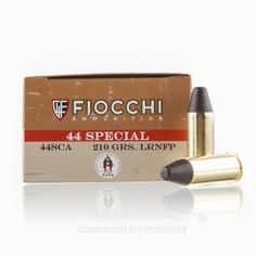 Fiocchi 44 S&W Special Ammo - 50 Rounds of 210 Grain LRN-FP Ammunition #44Special #44SpecialAmmo #Fiocchi #FiocchiAmmo #Fiocchi44Special #LRN