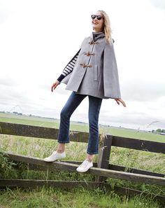 The J.Crew women's toggle cape. Because sometimes fall weather just can't make a decision.