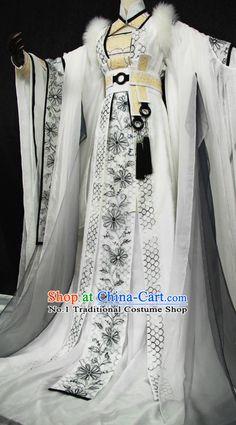 Beautiful Chinese Women White Fairy Costumes