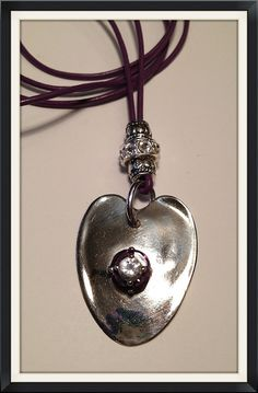 Spoon pendant turned hammered heart with silver beads by Shecre8s, $18.00    GREAT MOTHERS DAY GIFT!