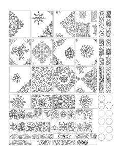 Free printable 'Doodle Decorative Planner Stickers' Mandala full boxes for your planner, journal or for coloring.
