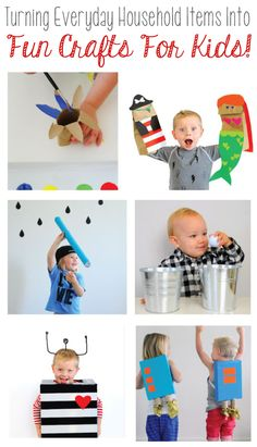 Turn Everyday Household Items Into Fun Crafts For Kids!