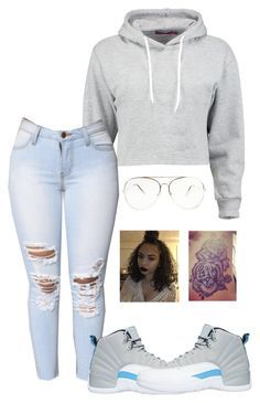 """Pnb Rock-Misunderstood"" by nasza100 ❤ liked on Polyvore featuring Boohoo and NIKE"