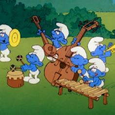 I'll admit it -- I don't really remember much about The Smurfs. Yes, I'm an kid, and lived for Saturday morning cartoons, big bowls of m. Cartoon Cartoon, Cartoon Characters, Cartoon Crazy, 1980 Cartoons, Vintage Cartoons, Nostalgia, Smurfette, Cute Fairy, Saturday Morning Cartoons