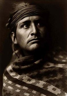 A Navaho Chief. Photo taken in 1904 by Edward S. Curtis.