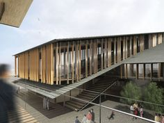 kengo kuma plans louvered tomioka city hall in central japan - designboom | architecture & design magazine