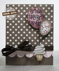 Hero Arts Cardmaking Idea: Birthday Balloons