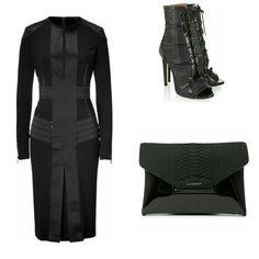 Belstaff dress, Alaia heels, Givenchy clutch