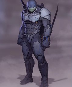 Leo Art by Andrey Terentev by heroes_and_villains_daily Comic Character, Character Concept, Character Design, Ninja Turtles Art, Teenage Mutant Ninja Turtles, Armadura Ninja, Comic Books Art, Comic Art, Thundercats