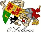O'sullivan Irish Sept Coat of Arms from the website  www.4crests.com #coatofarms #familycrest #familycrests #coatsofarms #heraldry #family #genealogy #familyreunion #names #history #medieval #codeofarms #familyshield #shield #crest #clan #badge #tattoo
