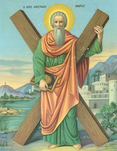 "|Saint of the Day – November 30 – St Andrew Apostle of Christ – Patron of fishermen, fishmongers and rope-makers, Scotland, Barbados, Ukraine, Russia, Sicily, Greece, Cyprus, Romania #pinterest Andrew, lSimon Peter's brother, was a fisherman. He was a disciple of the St John the Baptist but when John pointed to Jesus and said, ""Behold the Lamb of God!"" Andrew left John to follow the Divine Master. Jesus knew that Andrew was walking behind him and turning ...... Awestruck Catholic Social…"