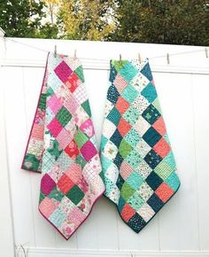 How to Make a Patchwork Baby Quilt with Precuts - Baby Lock Summer School | Diary of a Quilter - a quilt blog