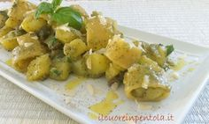 Calamarata con patate e pesto - Ricetta Il Cuore in Pentola