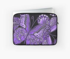 Purple and Black Butterfly Pattern