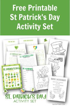 Free Printable St Patrick's Day Activity Set - Fun Crafts Kids Fun Crafts For Kids, Crafts To Make, St Patrick Day Activities, St Patricks Day, Dots And Boxes, Free Printables, Bingo Sheets, British Family, Unicorn Coloring Pages