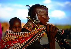 Turkana woman and child