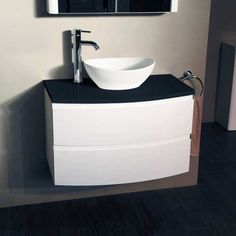 Voss 810 Wall Mounted Black Countertop Vanity Drawer Unit - Black And White Bathroom Ideas - Black And White Vanity Unit - Better Bathrooms White Vanity Unit, Vanity Units, Amazing Bathrooms, Better Bathrooms, Black White Bathrooms, Vanity Drawers, Wall Hung Vanity, Drawer Unit