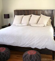 Eaton Reclaimed Wood Queen-Size Bed   Collections Reclaimed Wood   Wooden Crow Company   Scoutmob Shoppe   Product Detail