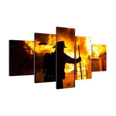 Canvas Wall Art F... : http://homewalldeco.com/products/canvas-wall-art-fireman-pictures-fire-fighter-warrior-canvas-art?utm_campaign=social_autopilot&utm_source=pin&utm_medium=pin