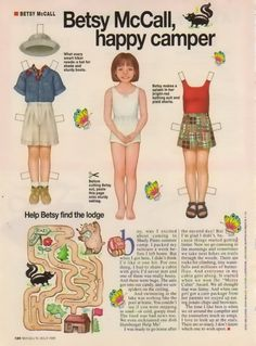 From the pages of McCalls Magazine  every issue had Betsy to cut out and play with