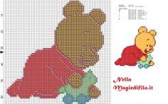Winnie the Pooh bebé col el potro
