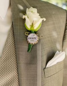 Liven Up your boutonnieres. | 33 Subtle Ways To Add Your Love Of Disney To Your Wedding