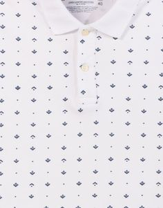 PIQUÉ POLO SHIRT WITH AN ALL-OVER PRINT - T-SHIRTS - MAN - PULL&BEAR Indonesia