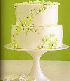 Zoe Clark blossom-applique cake