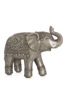 Pewter Elephant Ornament