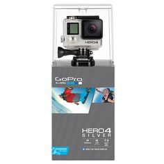 Buy GoPro Hero4: Silver Edition Camcorder, HD 1080p, 12MP, Bluetooth, Wi-Fi…