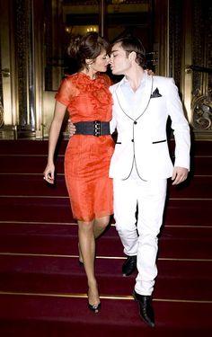 Ed Westwick and Helena Christensen