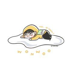 Seventeen Album, Seventeen Memes, Seventeen Wonwoo, Engineer Cartoon, Chibi, Mingyu Wonwoo, Won Woo, Seventeen Wallpapers, Meanie