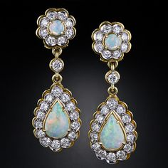 Estate Opal and Diamond Earrings 1960's/70's - would they go with my Cartier tiara?