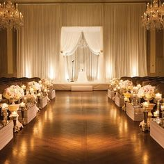 Indoor Ceremony // photo by: North Shore Photography, Northbrook, IL  // Ceremony Site: The Standard Club, Chicago, IL