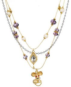 Betsey Johnson Mouse Necklace ~ aaww... want!
