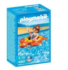 Amazon.com: Playmobil 4860 Girl with Swim Ring: Toys & Games