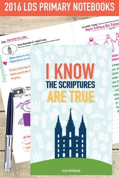 2016 LDS Primary Book.  These are great for kids to take notes, draw, and record what they learn in primary class, sharing time, and sacrament meeting!  You have to see the pictures of the inside of the book!  #iknowthescripturesaretrue