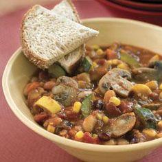 Slow-Cooker Veggie Chili Recipe | MyRecipes.com