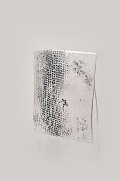 Heidemarie Herb  Brooch: Collection minipictures, untitled 2010  Silver, pigments  5 x 6 cm