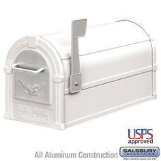 Eagle Rural Mailbox in White and Silver Eagle | Multicityhardware.com List Price: $196.98 Discount: $85.84 Sale Price: $111.14