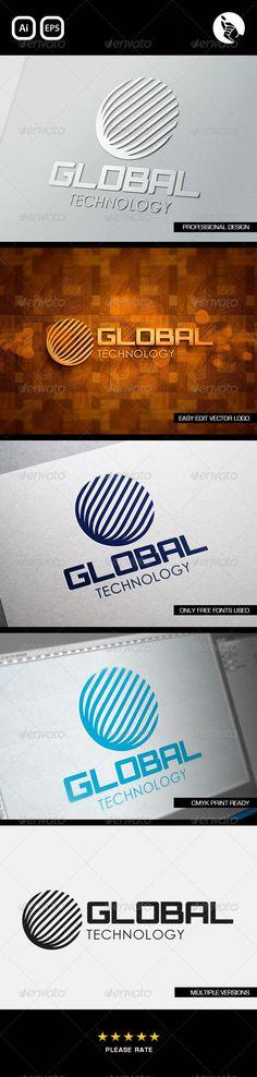 Global Technology Logo  #GraphicRiver         GLOBAL TECH LOGO BY FLIPSIDE