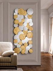 Miroir Moderne en Feuille d´Or : Modèle CIRZE Rectangulaire