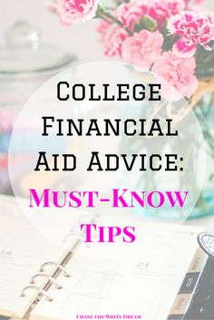 College Financial Aid Advice: Must-Know Tips for Students - Great for figuring out how to best manage your money while in school, cut costs, reduce loan amounts and debt, and maybe make an income on the side! Pay off Debt, Student Loan Debt College Loans, Grants For College, Financial Aid For College, Saving For College, College Planning, College Hacks, Scholarships For College, Education College, College Students