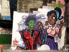 #MichaelJackson Street Art, Santa Teresa, Brazil #Thriller #MJAPWNN #DENoName
