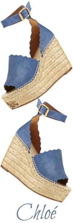 ❇Téa Tosh❇ — ❇Téa Tosh❇ Chloe Suede d'Orsay Espadrille Sandal,...