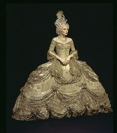 "Gilbert Adrian costume for the film ""Marie Antoinette"" ca. 1938 via The Los Angeles County Museum of Art"