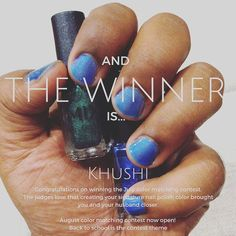 Congratulations on winning the July color matching contest. Says Khushi - my…