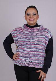 Receita de Tricô: Colete em tricô Vitoria Quintal                                                                                                                                                                                 Mais