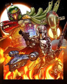 Mandalorian Poster, Boba Fett Mandalorian, Boba Fett Wallpaper, Star Wars Wallpaper, Images Star Wars, Star Wars Pictures, Star Wars Fan Art, Starwars, Boba Fett Art